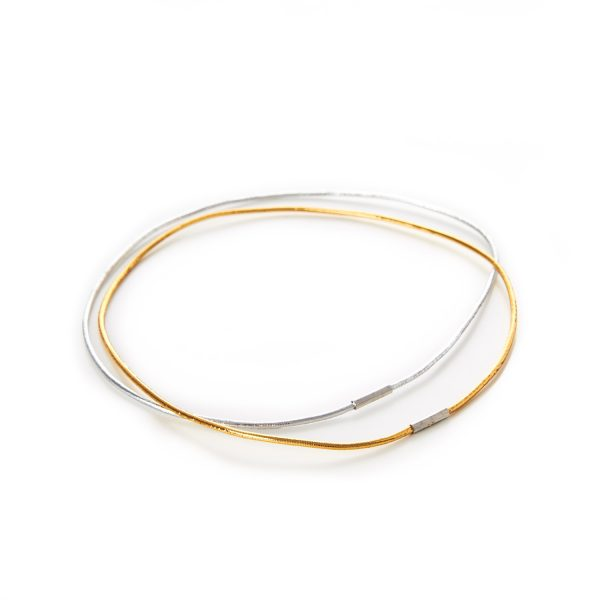 Decorative Menu Loops Lurex Round Elastic Gold Silver Metal Tag