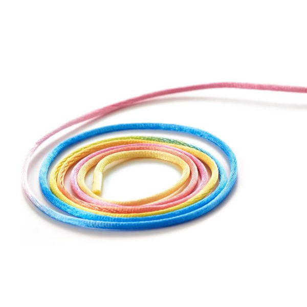 Rats Tail Rattail Silky Satin Cord String Coloured