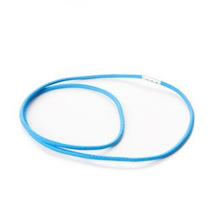 Round Elastic Rings with Metal Clamp Tag Blue