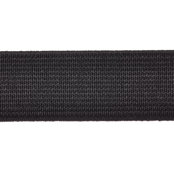 Woven Elastic 19mm 25mm 38mm 50mm Black Webbing Loom Tape