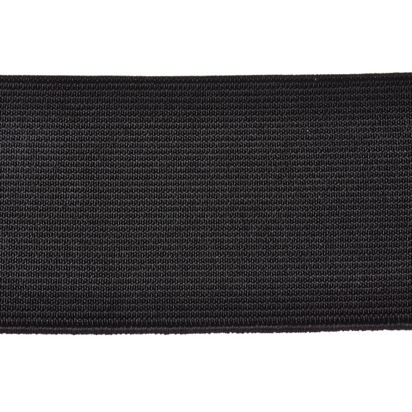 Woven Elastic 50mm Black Webbing Loom Elasticated Tape