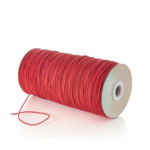 TPE71 1.5mm Fine Thin Round Elastic Rosemadder Red