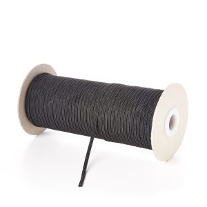 3mm 4 Cord Flat Elastic in Black