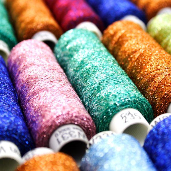 Lurex Shade Card Yarn Colours