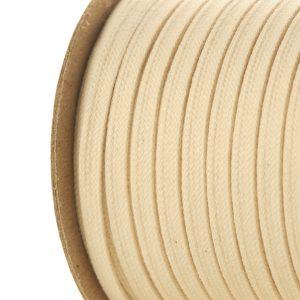 Cotton Flat Tubular Braid Used as Drawstring or Corset Lace SKU: C227 Natural Colour