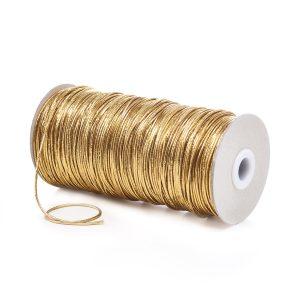Lurex Fine Round Elastic LXE1 Gold