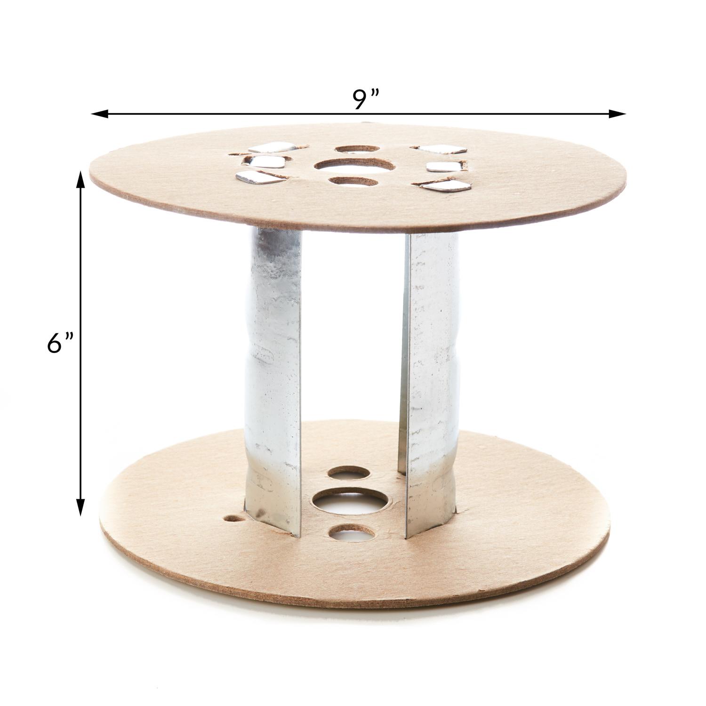 6 Inch Metal Insert with 9 Inch Flange Spool Reel Roll Hardboard Metal Tube