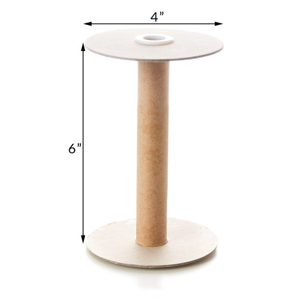 6 Inch Tube with 4 Inch Flange Spool Reel Roll Hardboard Plastic Tube