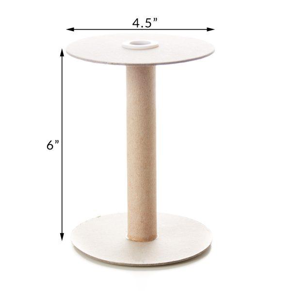 6 Inch Tube with 4.5 Inch Flange Spool Reel Roll Hardboard Plastic Tube