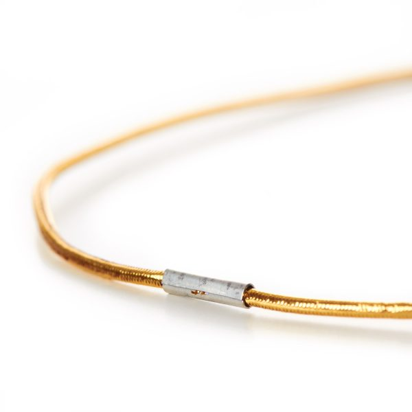 Decorative Menu Loops Lurex Round Elastic Gold Metal Tag