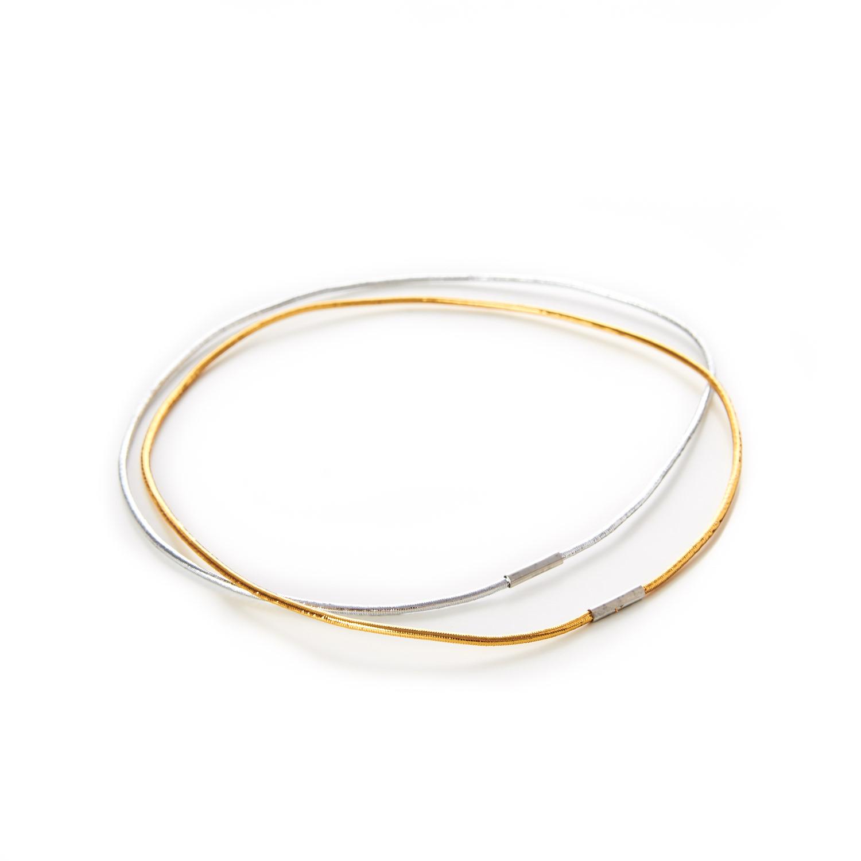 Decorative Menu Loops Lurex Round Elastic Gold Silver Metal Tag