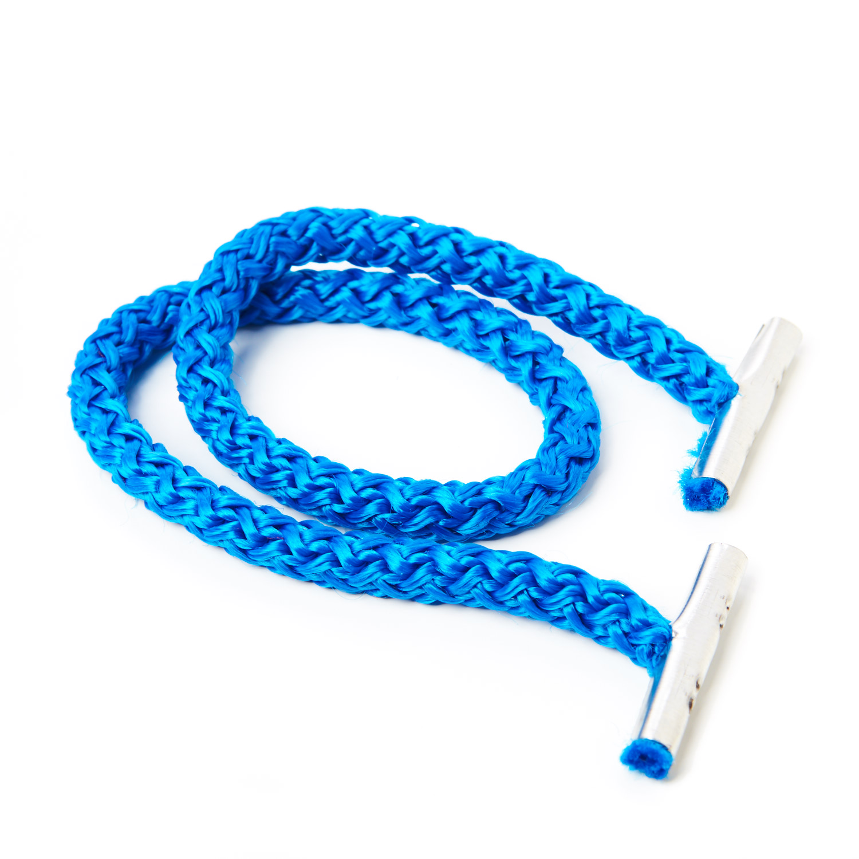 Polypropylene Cord Bag Handle Metal Ends Blue