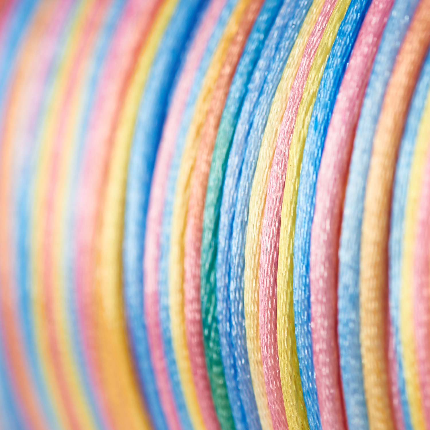 Rats Tail Rattail Silky Satin Cord String Multi Colours