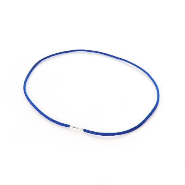 Round Menu Loops Blue Metal Tag Clamped Thin Elastic