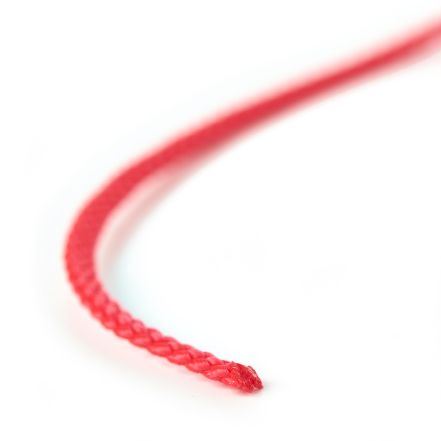Polypropylene Cord Heat Cut Lengths Sealed Ends Red