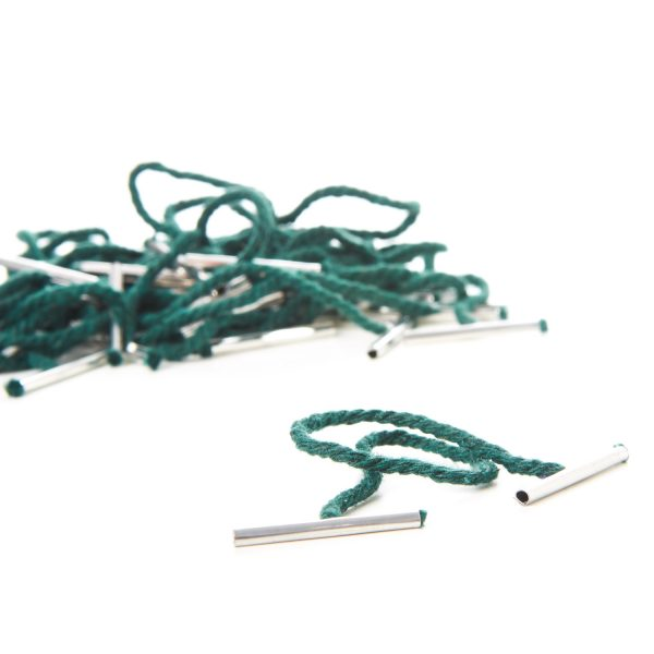 Treasury Tags Metal Ended Green Manufacturers Bespoke Plastic String
