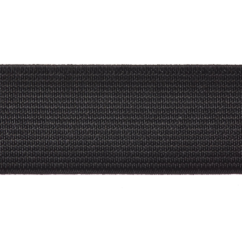 Woven Elastic 25mm 19mm 38mm 50mm Black Webbing Loom Tape