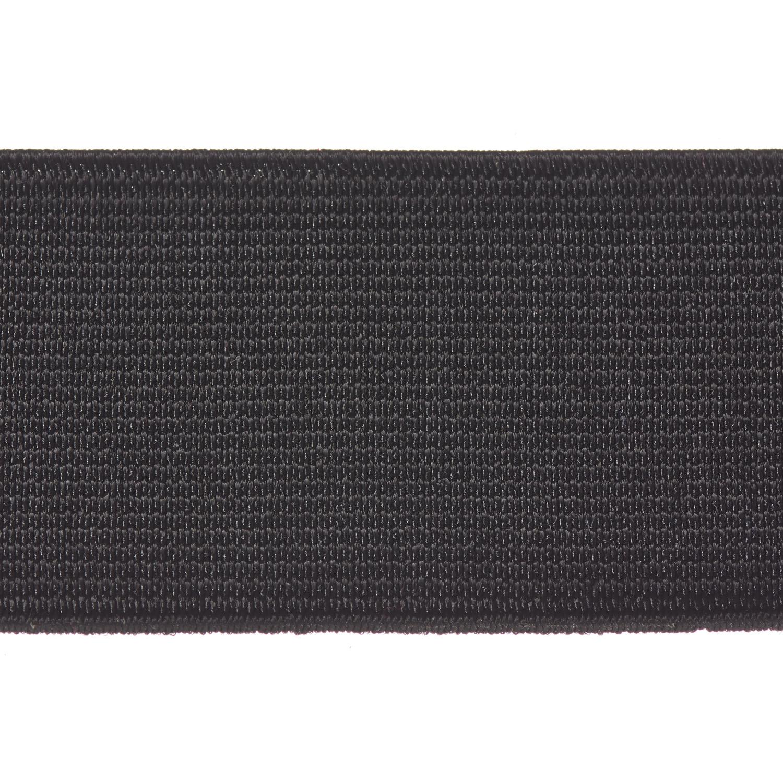 Woven Elastic 38mm Black Webbing Loom Tape