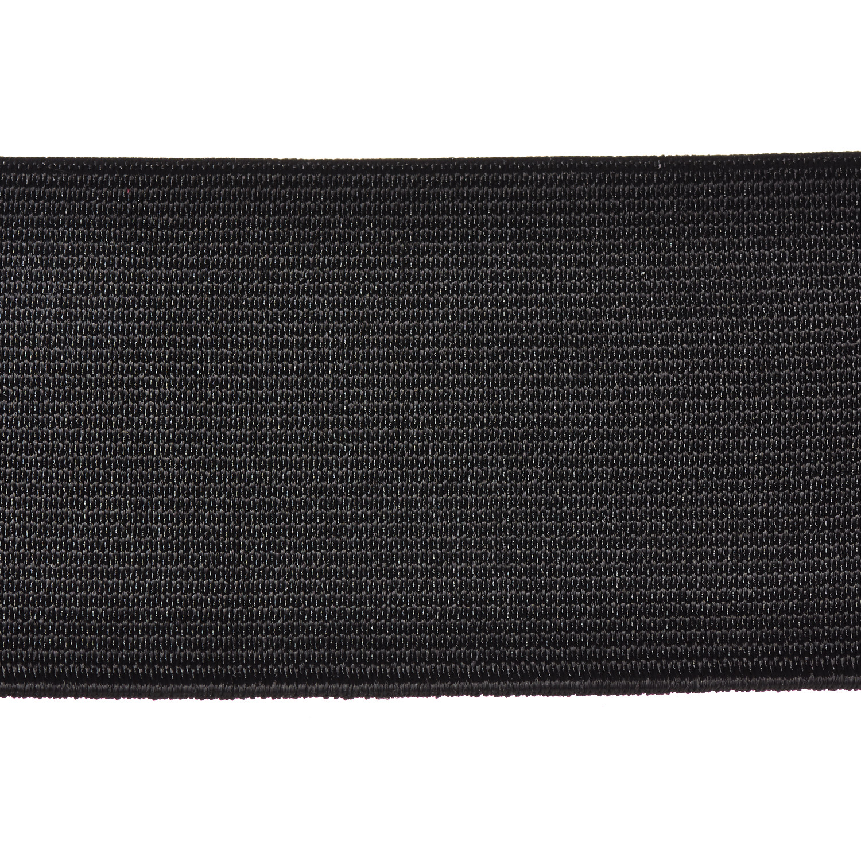 Woven Elastic 50mm Black Webbing Loom Elasticated Tape