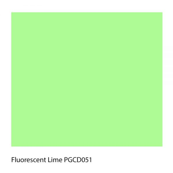 Fluorescent Lime PGCD051 Polyester Yarn Shade Colour