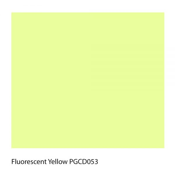Fluorescent Yellow PGCD053 Polyester Yarn Shade Colour