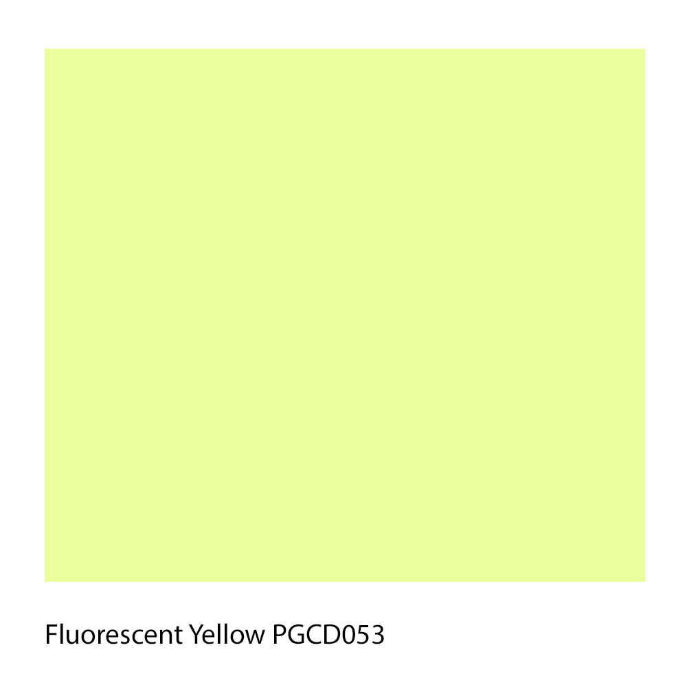 Fluorescent Yellow PGCD053 Polyester Yarn Shade Colour
