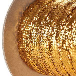 Gold Lurex Flat Braid on Roll