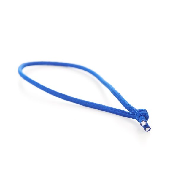 Knotted Elastic Loops Tied Menu Loop Blue