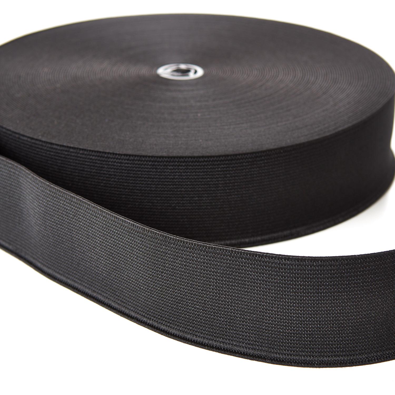 Woven Elastic 38mm 50mm 19mm 25mm Black White Webbing Loom Tape