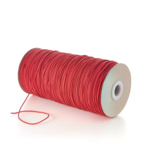 TPE71 1.5mm Fine Thin Round Elastic Rosemadder Red