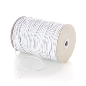 TPE43 3mm Fine Thin Round Elastic White