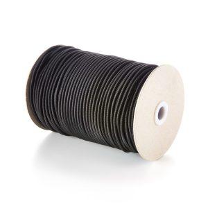 4mm Round Elastic Bungee Shock Cord in Black