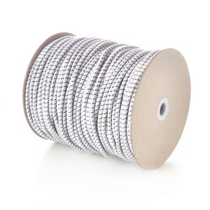 5mm Round Elastic Bungee Shock Cord White Natural with Black Fleck