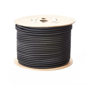 6mm Round Elastic Bungee Shock Cord in Black on a Roll