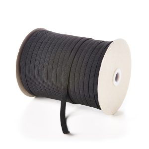 8mm 10 Cord Flat Elastic in Black