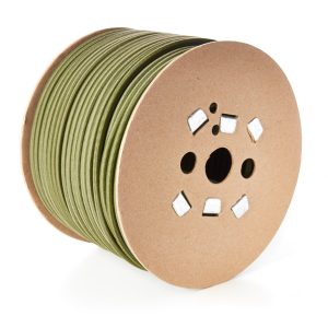 8mm Round Elastic Bungee Shock Cord in Khaki Olive Colour