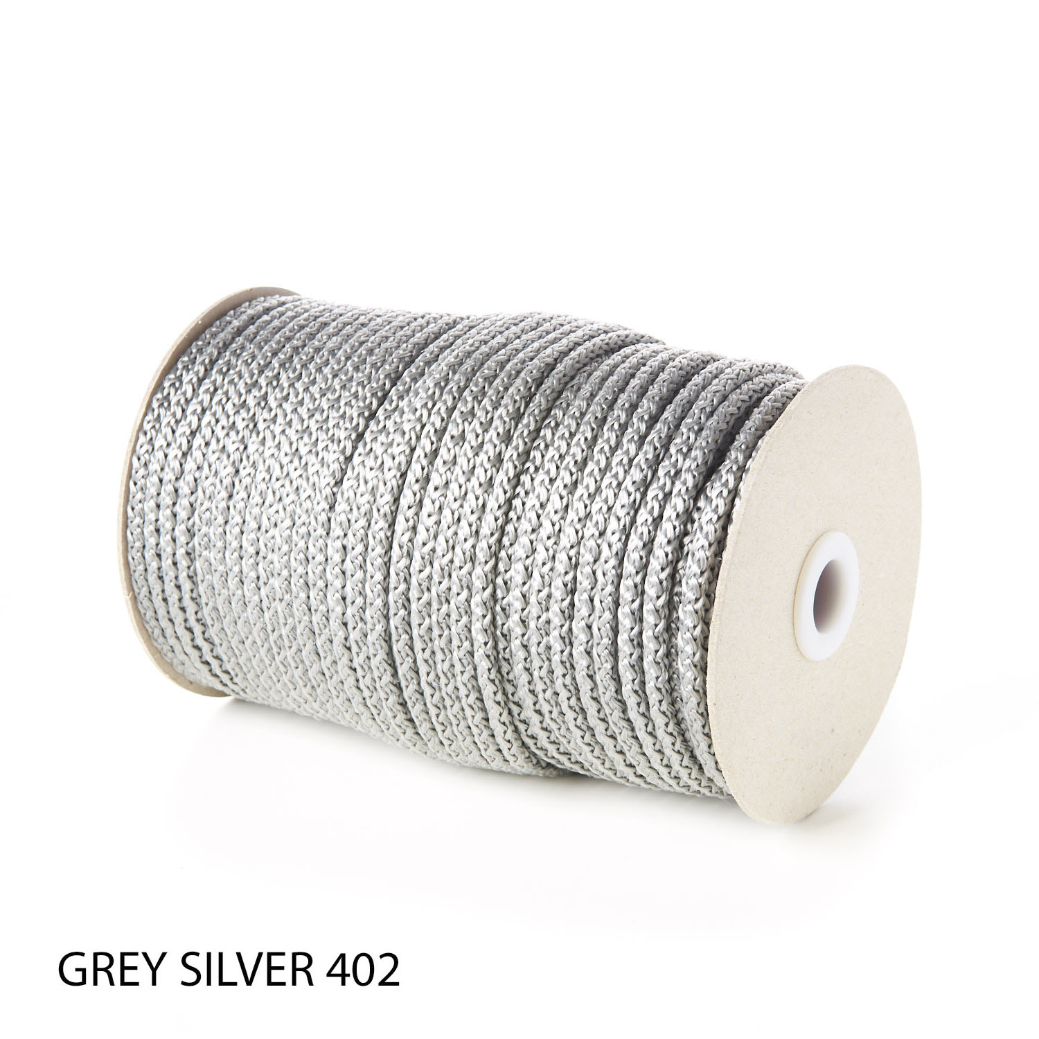 Grey Polypropylene Knitted Cords Round String Rope Strong