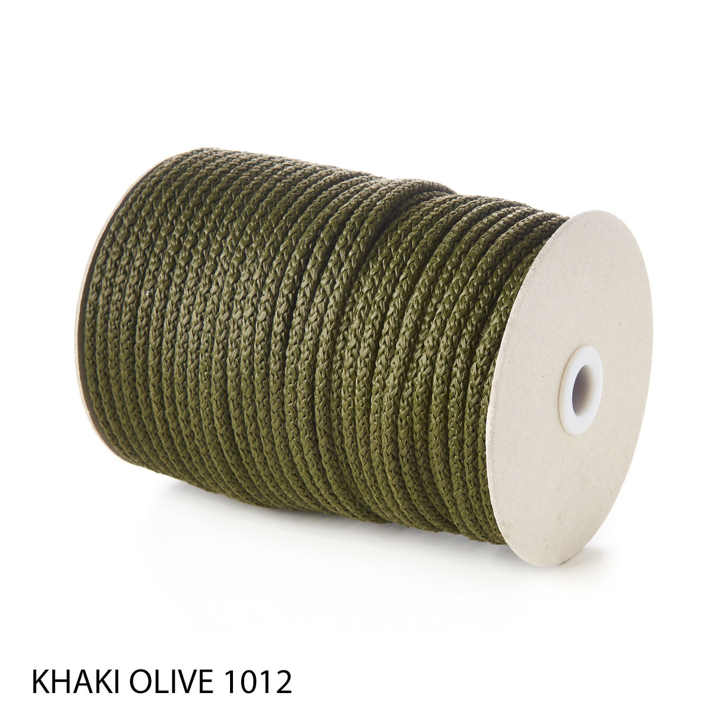 Khaki Polypropylene Knitted Cords Round String Rope Strong