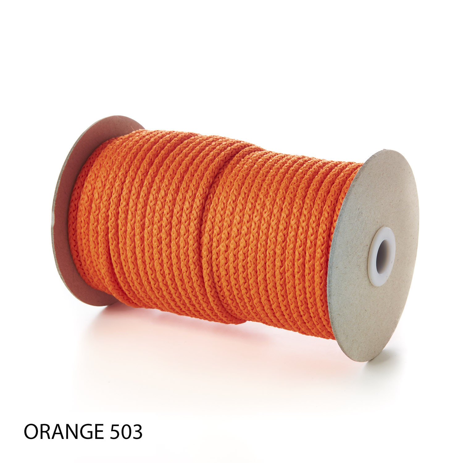 Orange Polypropylene Knitted Cords Round String Rope Strong