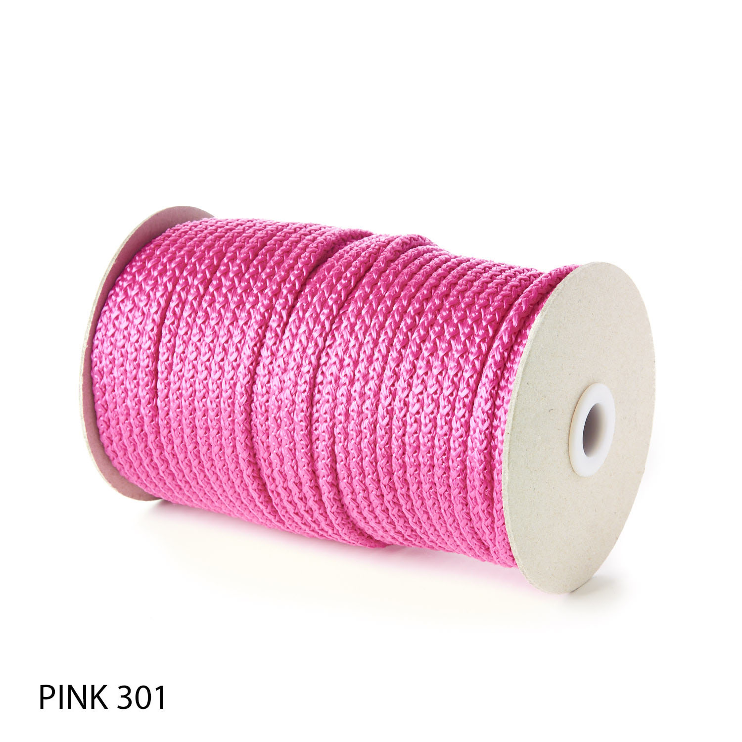 Pink Polypropylene Knitted Cords Round String Rope Strong