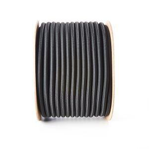 Round 10mm Elastic Bungee Shock Cord Black
