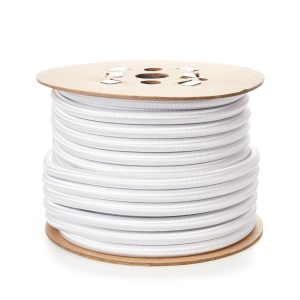 Round 12mm Elastic Bungee Shock Cord in White Natural