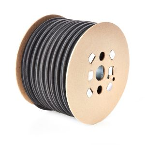 Round 14mm Elastic Bungee Shock Cord in Black on a Roll