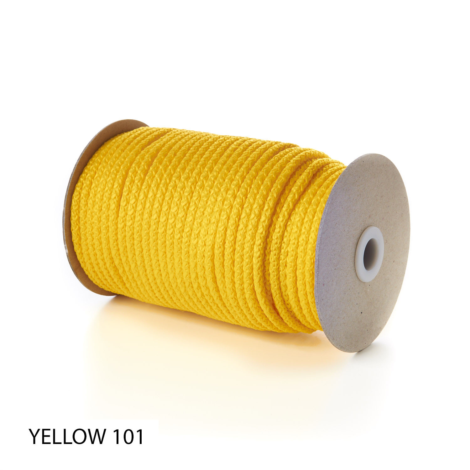 Yellow Polypropylene Knitted Cords Round String Rope Strong