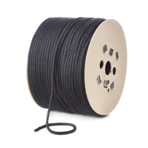 6mm Round Terylene Cord T574 Black