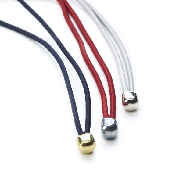 Ball End Menu Loops Blue Red White Gold Silver Round Elastic