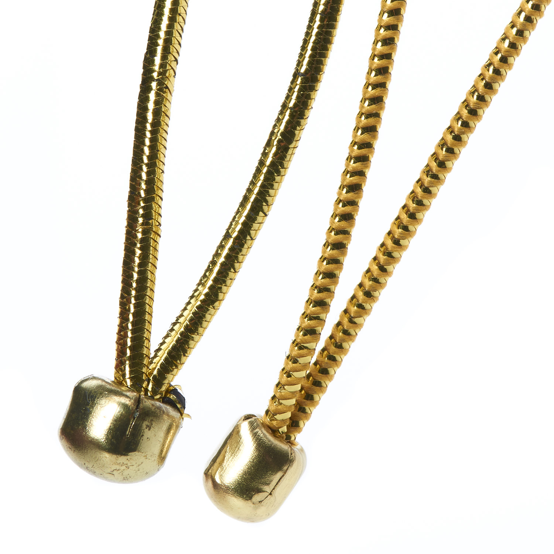 Ball End Menu Loops Lurex Gold